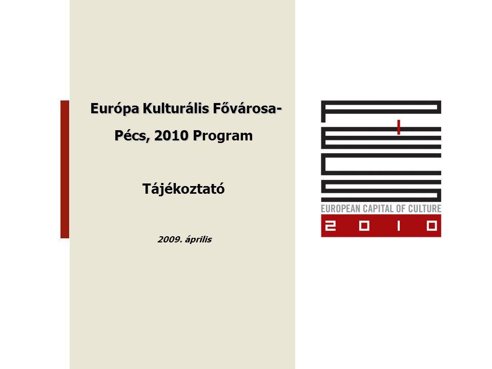 Európa Kulturális Fővárosa- Európa Kulturális Fővárosa- Pécs, 2010 P Pécs, 2010 Program Tájékoztató 2009.