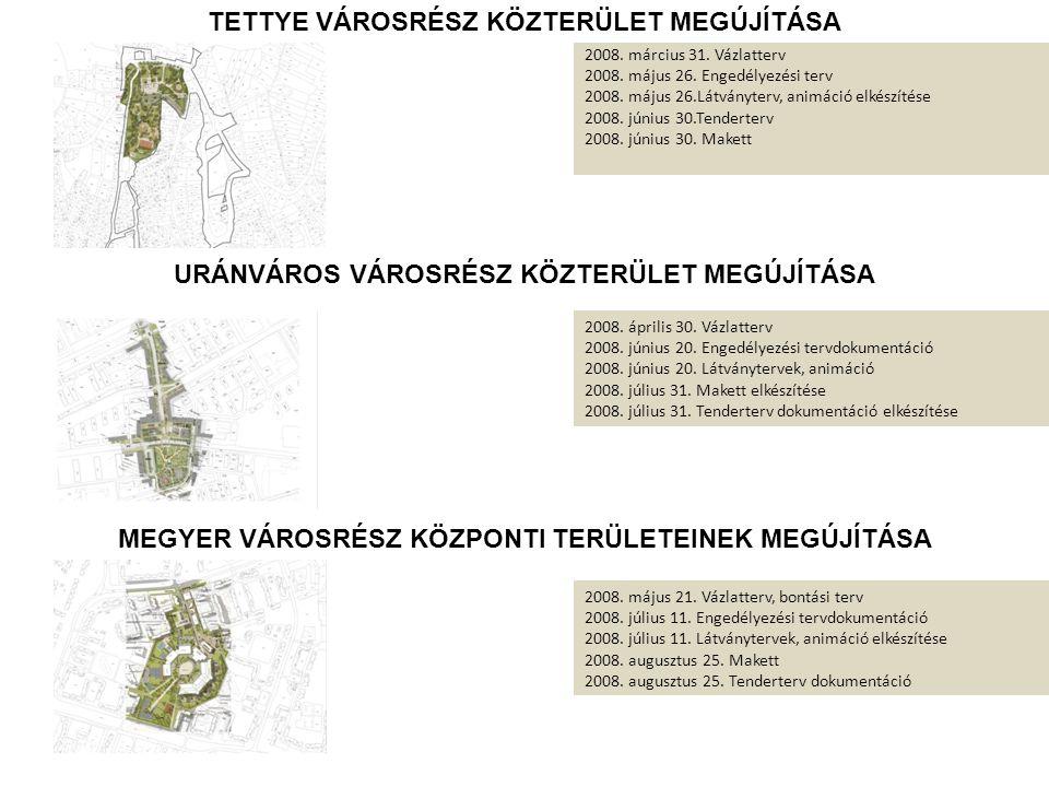 2008.március 31. Vázlatterv 2008. május 26. Engedélyezési terv 2008.