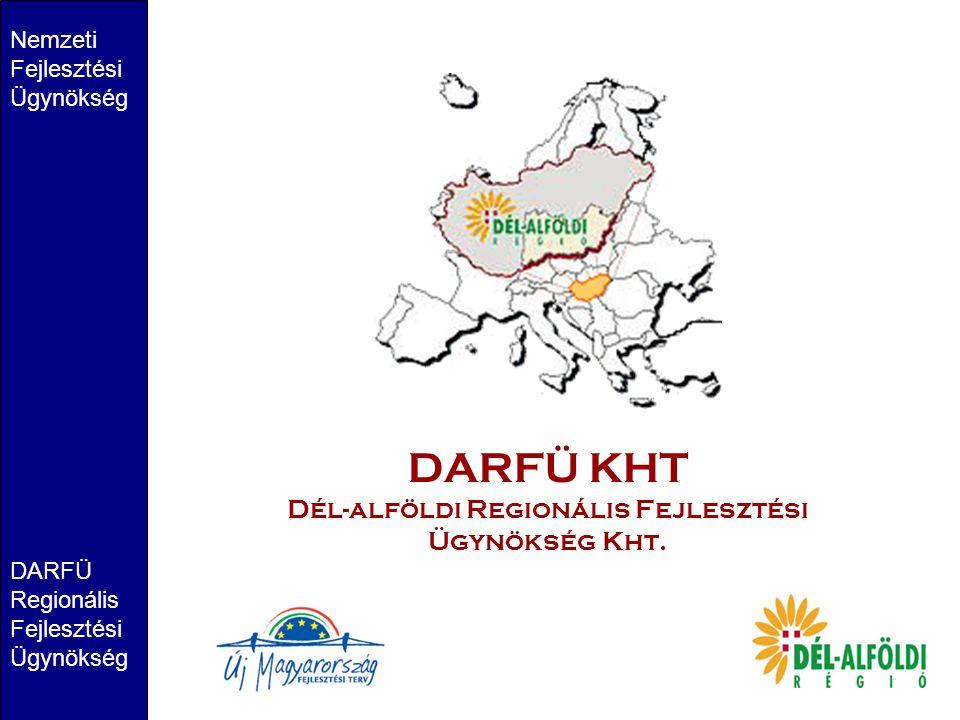 DARFÜ KHT Dél-alföldi Regionális Fejlesztési Ügynökség Kht. Nemzeti Fejlesztési Ügynökség DARFÜ Regionális Fejlesztési Ügynökség