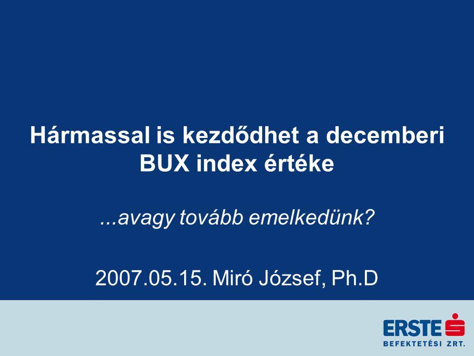 Hármassal is kezdődhet a decemberi BUX index értéke...avagy tovább emelkedünk.