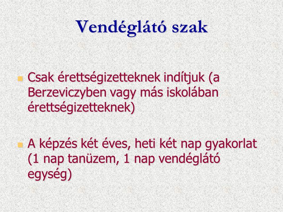 Csak érettségizetteknek indítjuk (a Berzeviczyben vagy más iskolában érettségizetteknek) Csak érettségizetteknek indítjuk (a Berzeviczyben vagy más is