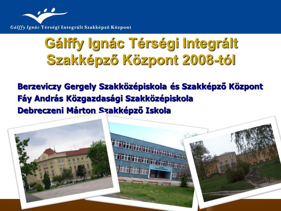 Gálffy Ignác Térségi Integrált Szakképző Központ 2008-tól Berzeviczy Gergely Szakközépiskola és Szakképző Központ Fáy András Közgazdasági Szakközépisk
