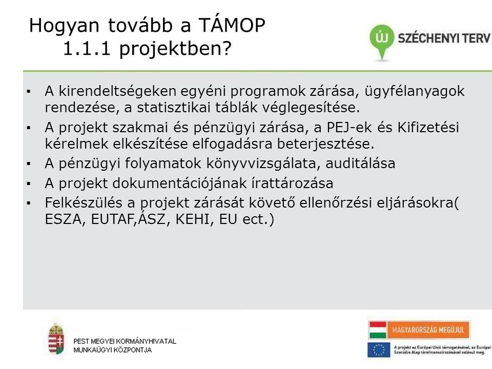 Hogyan tovább a TÁMOP 1.1.1 projektben.