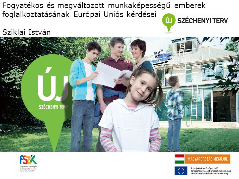 Fogyatékos és megváltozott munkaképességű emberek foglalkoztatásának Európai Uniós kérdései Sziklai István