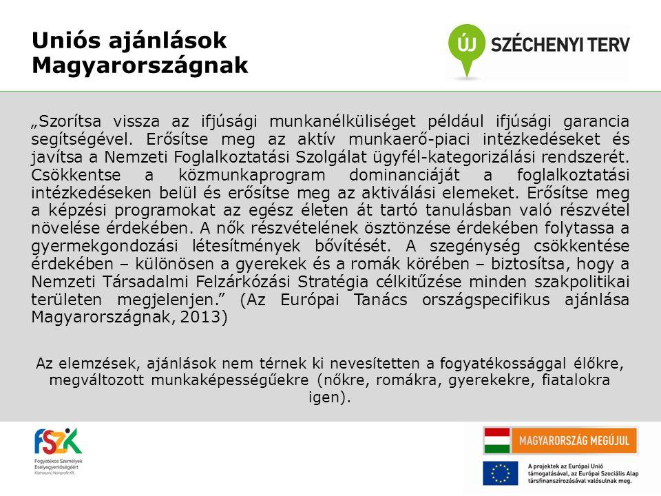 """Uniós ajánlások Magyarországnak """"Szorítsa vissza az ifjúsági munkanélküliséget például ifjúsági garancia segítségével. Erősítse meg az aktív munkaerő-"""
