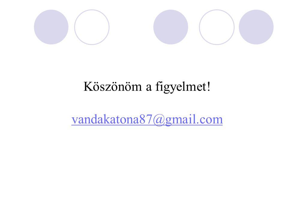 Köszönöm a figyelmet! vandakatona87@gmail.com vandakatona87@gmail.com