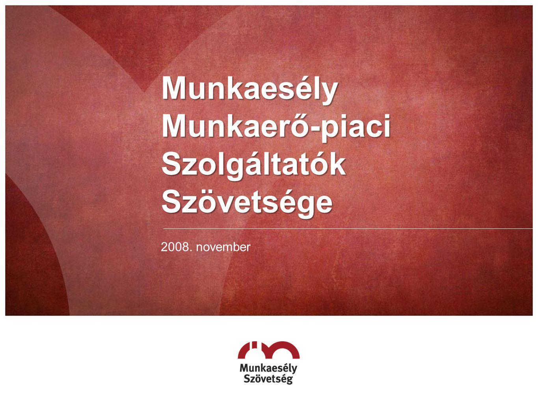 Munkaesély Munkaerő-piaci Szolgáltatók Szövetsége 2008. november