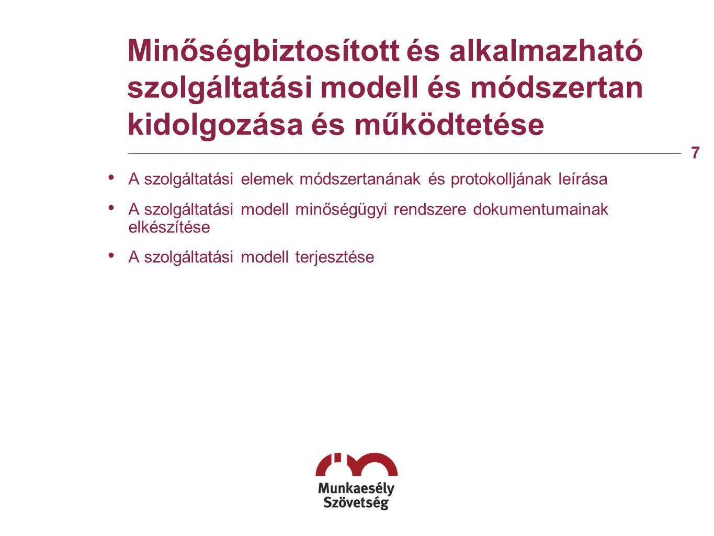 Jogalkotási folyamat befolyásolása, és az egységes jogalkalmazás elősegítése Részvétel a jogszabályok előkészítésében és véleményezésében Jogsegély szolgálat létrehozása
