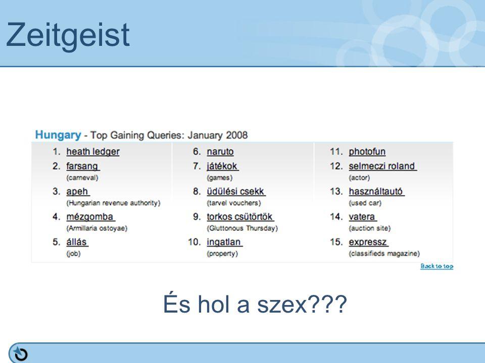 Zeitgeist És hol a szex???