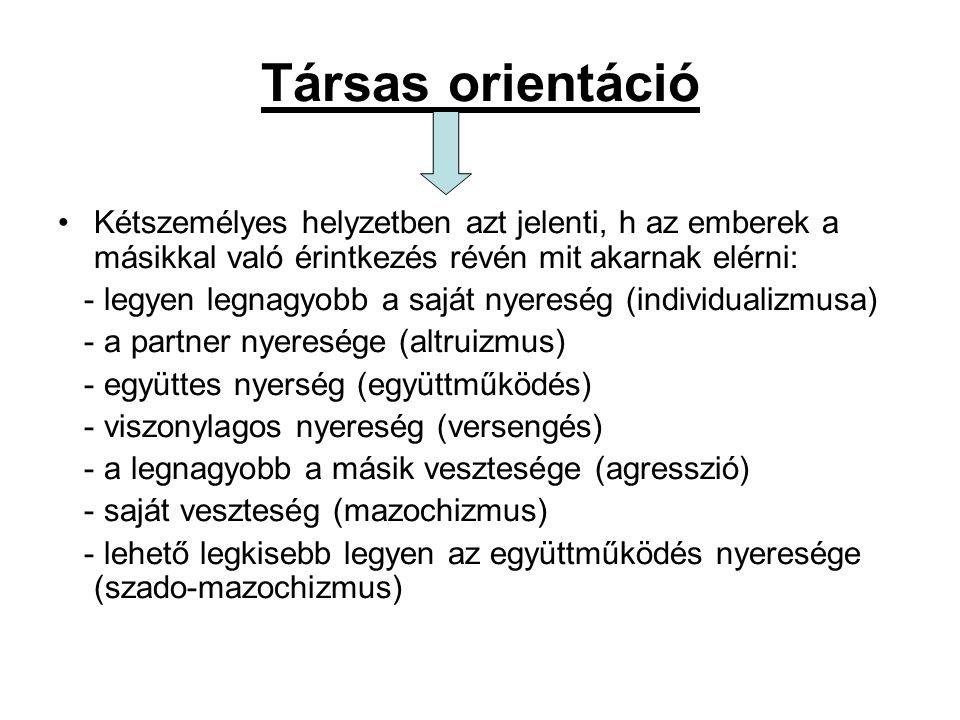 Társas dilemma: Olyan versengésszerkezet, amelyben minden résztvevő egyénnek az az érdeke, h.