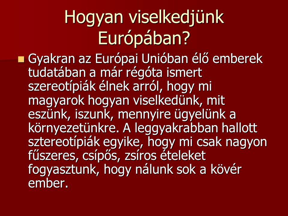 Hogyan viselkedjünk Európában? Gyakran az Európai Unióban élő emberek tudatában a már régóta ismert szereotípiák élnek arról, hogy mi magyarok hogyan