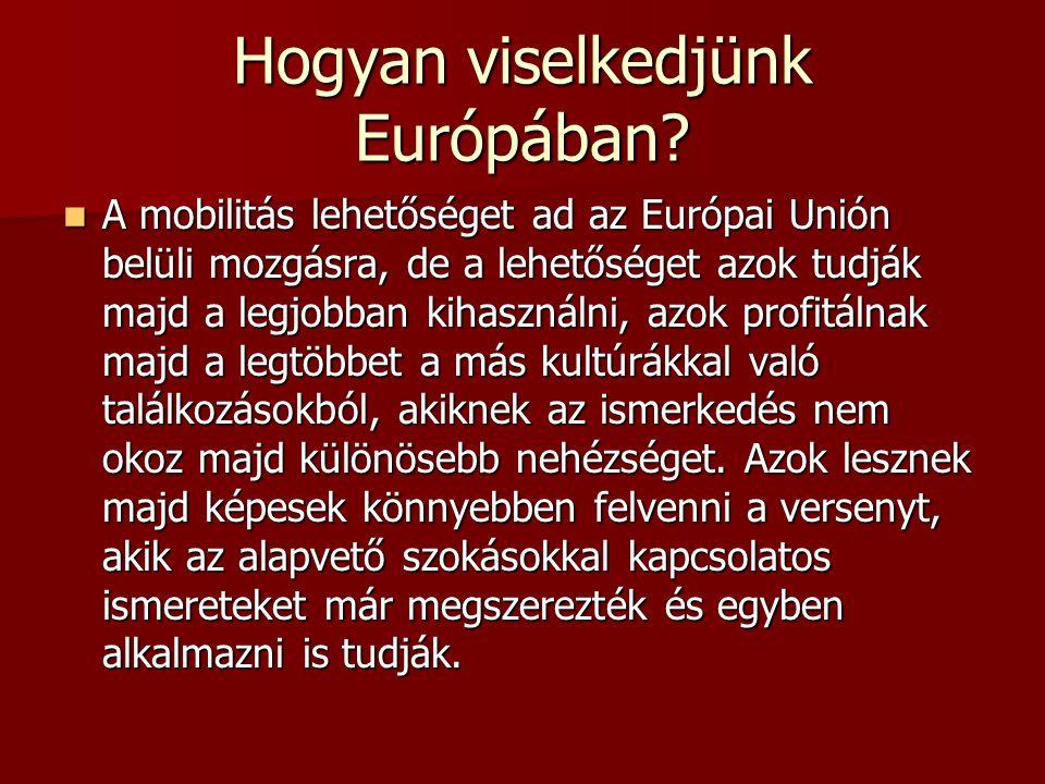 Hogyan viselkedjünk Európában? A mobilitás lehetőséget ad az Európai Unión belüli mozgásra, de a lehetőséget azok tudják majd a legjobban kihasználni,