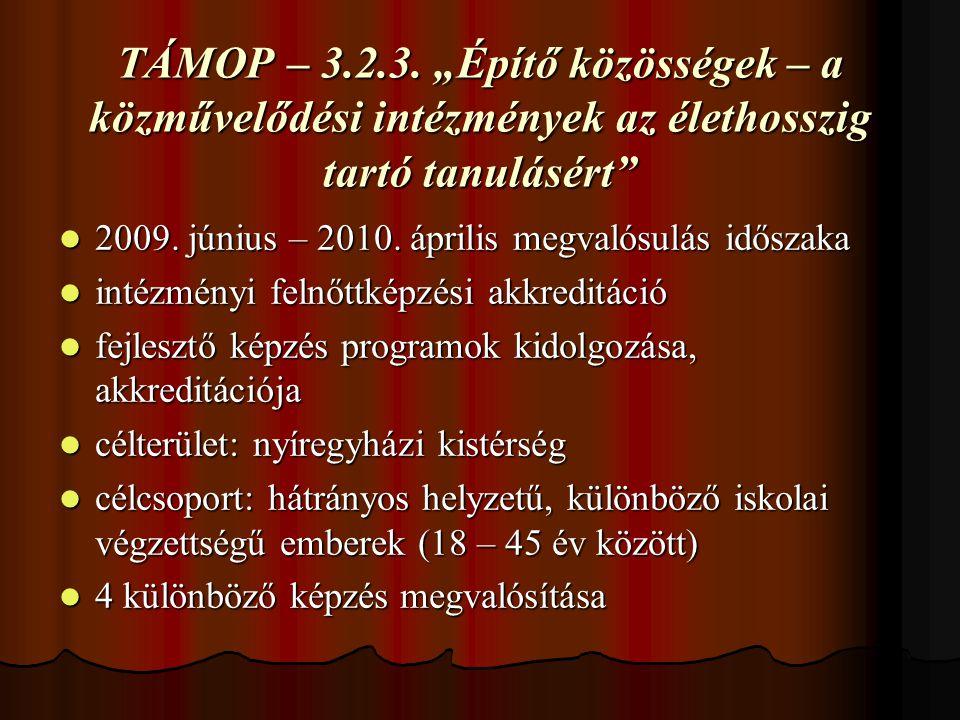 TÁMOP – 3.2.3.