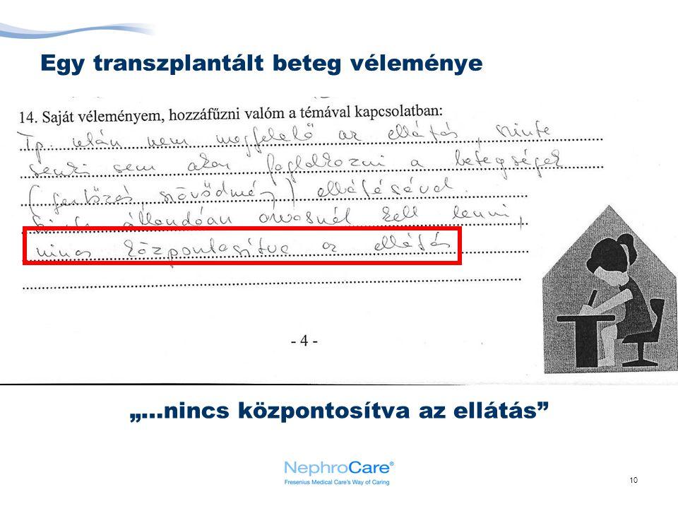 """10 Egy transzplantált beteg véleménye """"…nincs központosítva az ellátás"""""""