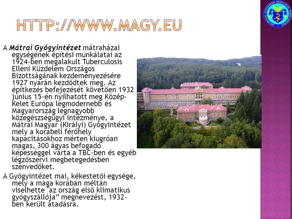 A Mátrai Gyógyintézet mátraházai egységének építési munkálatai az 1924-ben megalakult Tuberculosis Elleni Küzdelem Országos Bizottságának kezdeményezé
