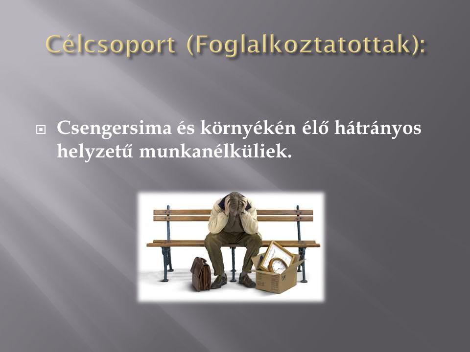  Csengersima és környékén élő hátrányos helyzetű munkanélküliek.