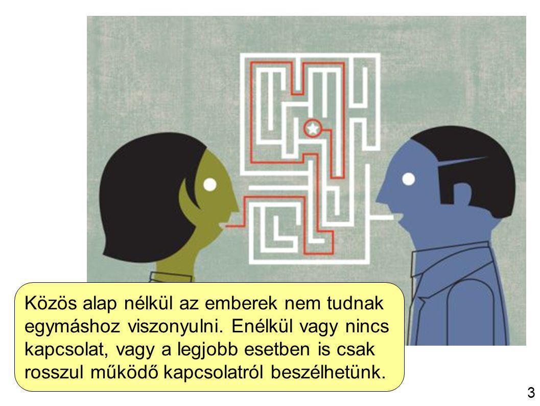 4 Közös alap nélkül az emberek nem tudnak egymáshoz viszonyulni.