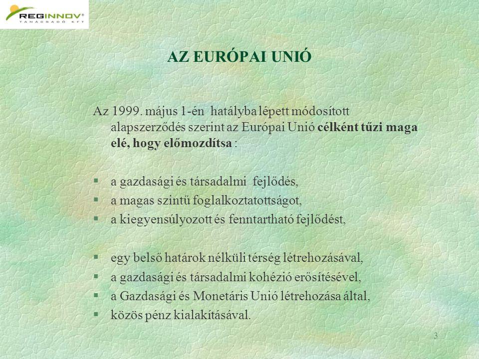 3 AZ EURÓPAI UNIÓ Az 1999.