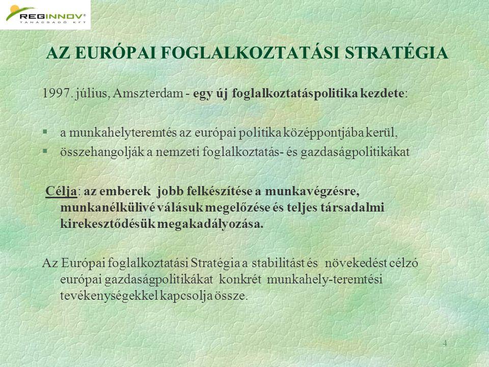 4 AZ EURÓPAI FOGLALKOZTATÁSI STRATÉGIA 1997.