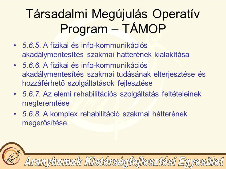 Társadalmi Megújulás Operatív Program – TÁMOP 5.6.5.