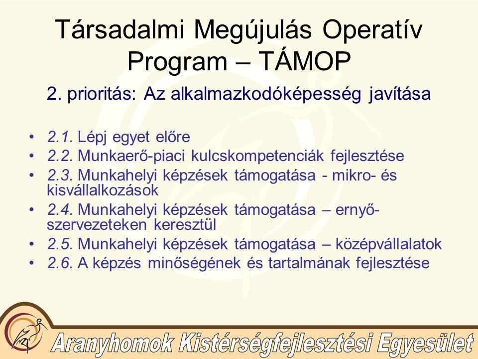 Társadalmi Megújulás Operatív Program – TÁMOP 2.7.