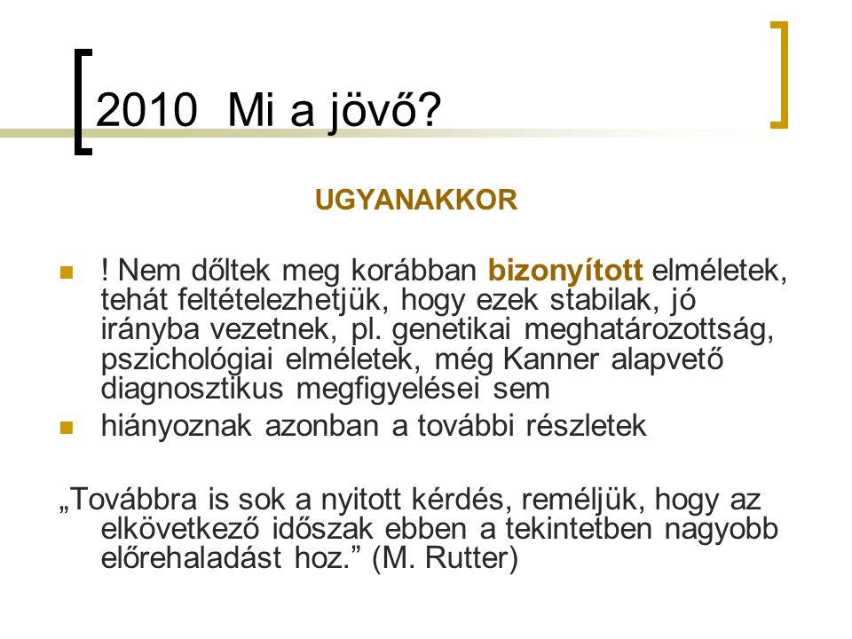2010 Mi a jövő.UGYANAKKOR .