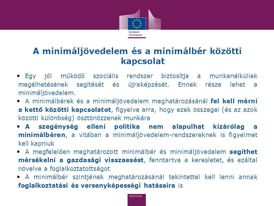 A minimáljövedelem és a minimálbér közötti kapcsolat Egy jól működő szociális rendszer biztosítja a munkanélküliek megélhetésének segítését és újrakép