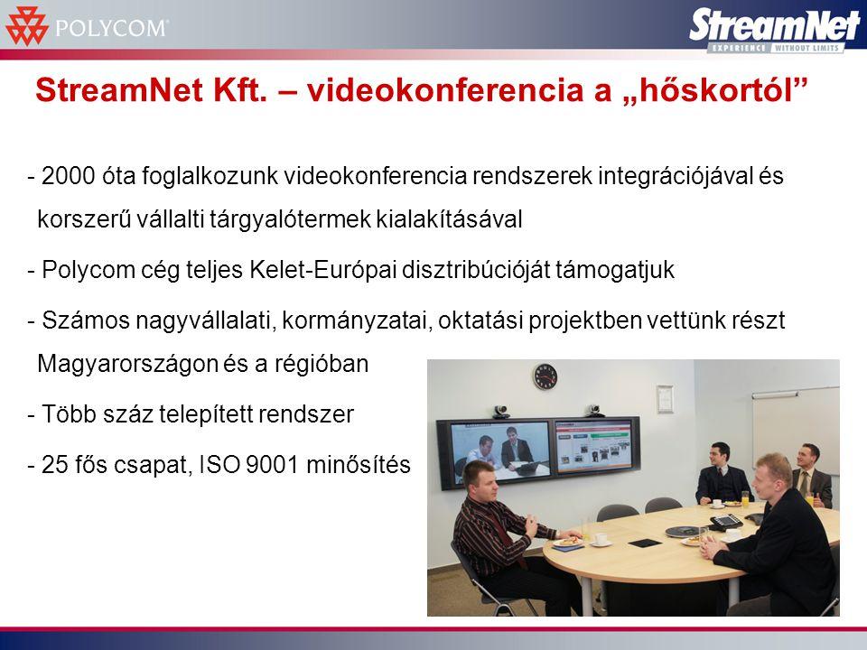 Magyar multi nemzetközi videokonferencia hálózata - Számos külföldi érdekeltség, cégfelvásárlásokkal, iroda nyitásokkal, jelentős aktivitásokkal (pl kutatás) - Egyik alapcél volt a cégfelvásárlások utáni megnövekedett kommunikációs igények kiszolgálása – növekvő utazási mennyiség nélkül - Időközben a vállalat több része is felismerte a videokonferencia hasznosságát, és mint IT szolgál- tatást veszi rendszeresen igénybe
