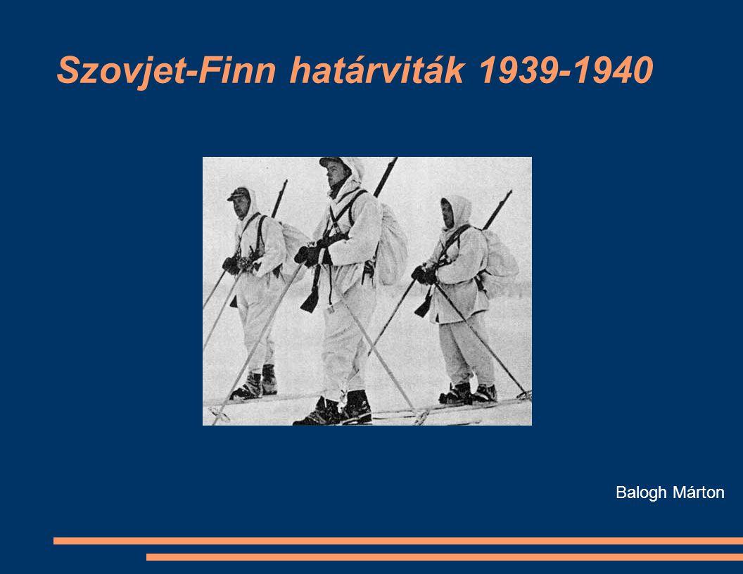 Szovjet-Finn határviták 1939-1940 Balogh Márton