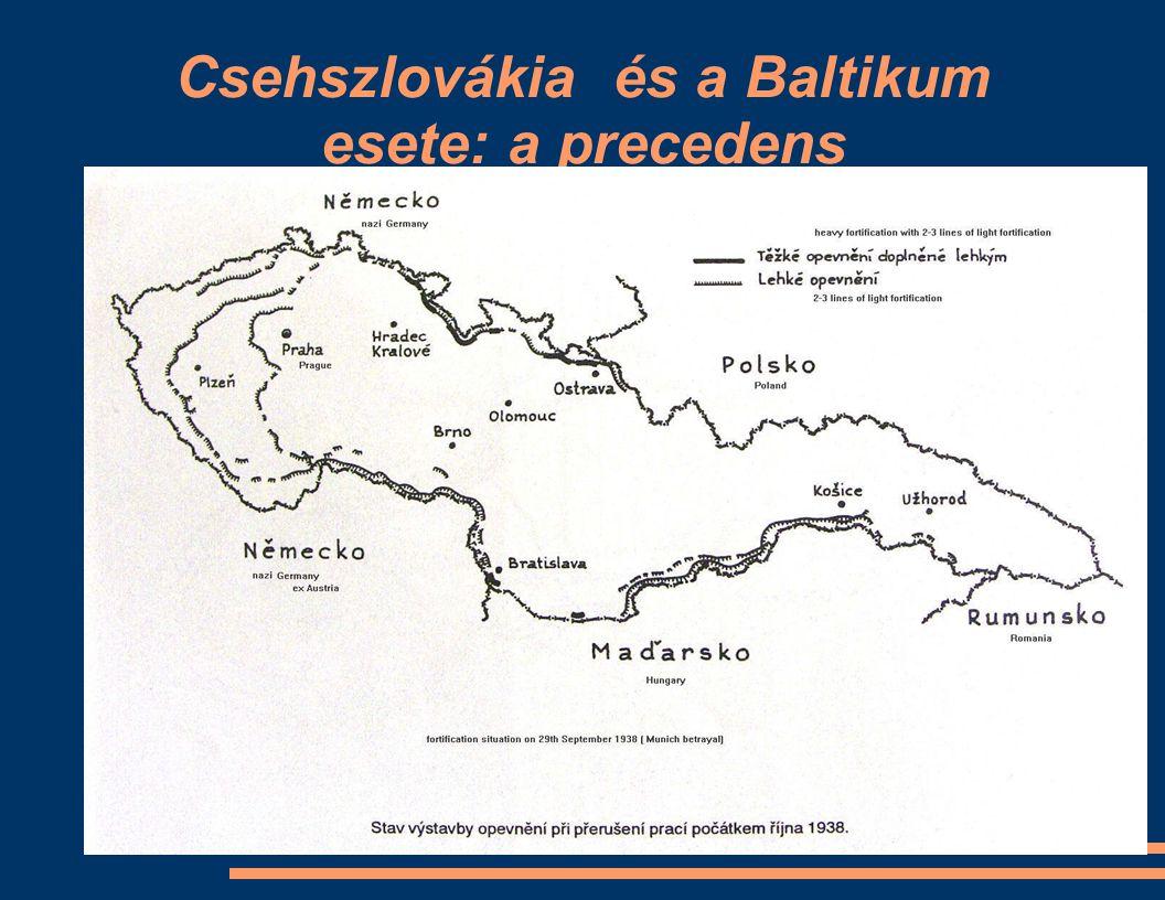 Csehszlovákia és a Baltikum esete: a precedens