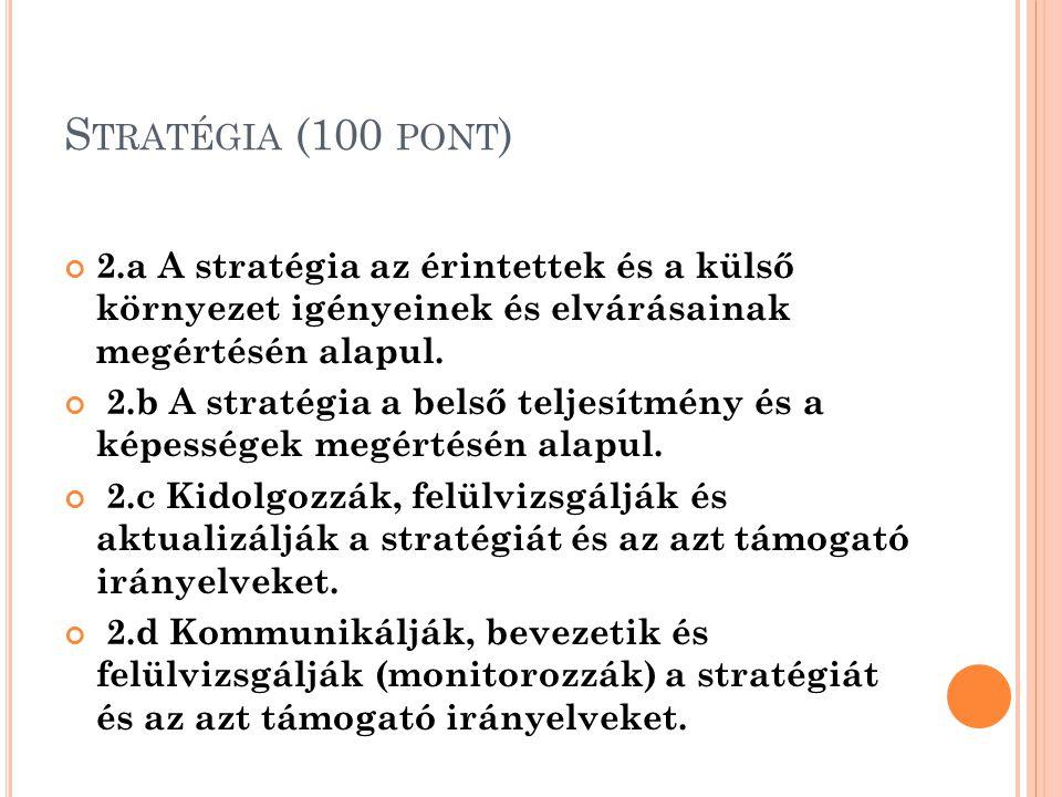 E MBEREK (100 PONT ) 3.a Az emberi erőforrás tervek támogatják a szervezeti stratégiát.
