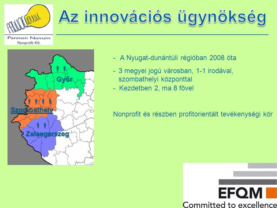- A Nyugat-dunántúli régióban 2008 óta -3 megyei jogú városban, 1-1 irodával, szombathelyi központtal - Kezdetben 2, ma 8 fővel Nonprofit és részben p