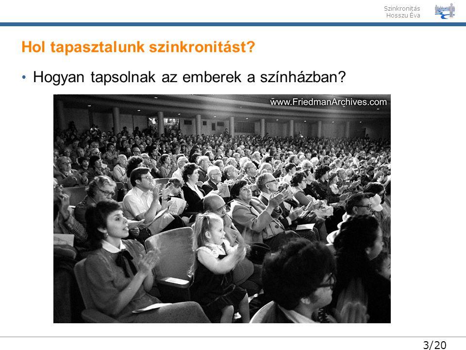 Szinkronitás Hosszu Éva 3/20 Hogyan tapsolnak az emberek a színházban.