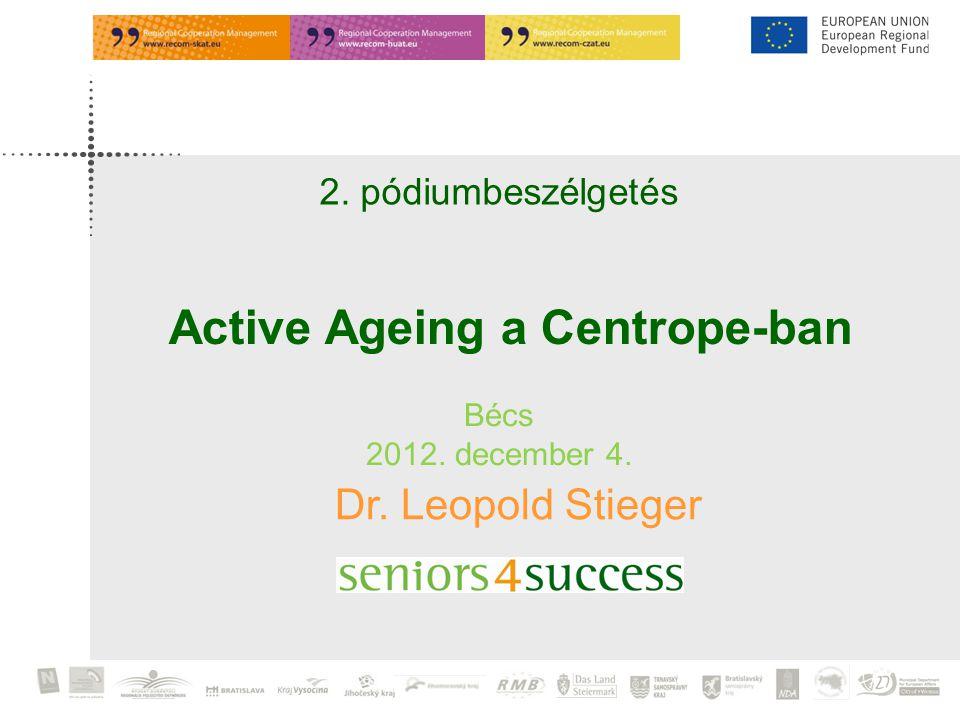 2. pódiumbeszélgetés Bécs 2012. december 4. Dr. Leopold Stieger Active Ageing a Centrope-ban