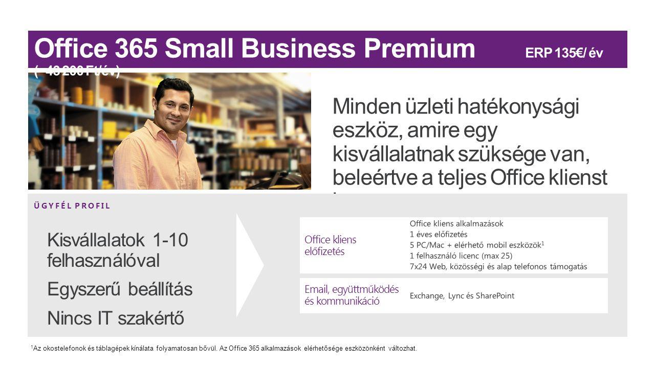 ÜGYFÉL PROFIL Office kliens előfizetés Email, együttműködés és kommunikáció 1 Az okostelefonok és táblagépek kínálata folyamatosan bővül. Az Office 36