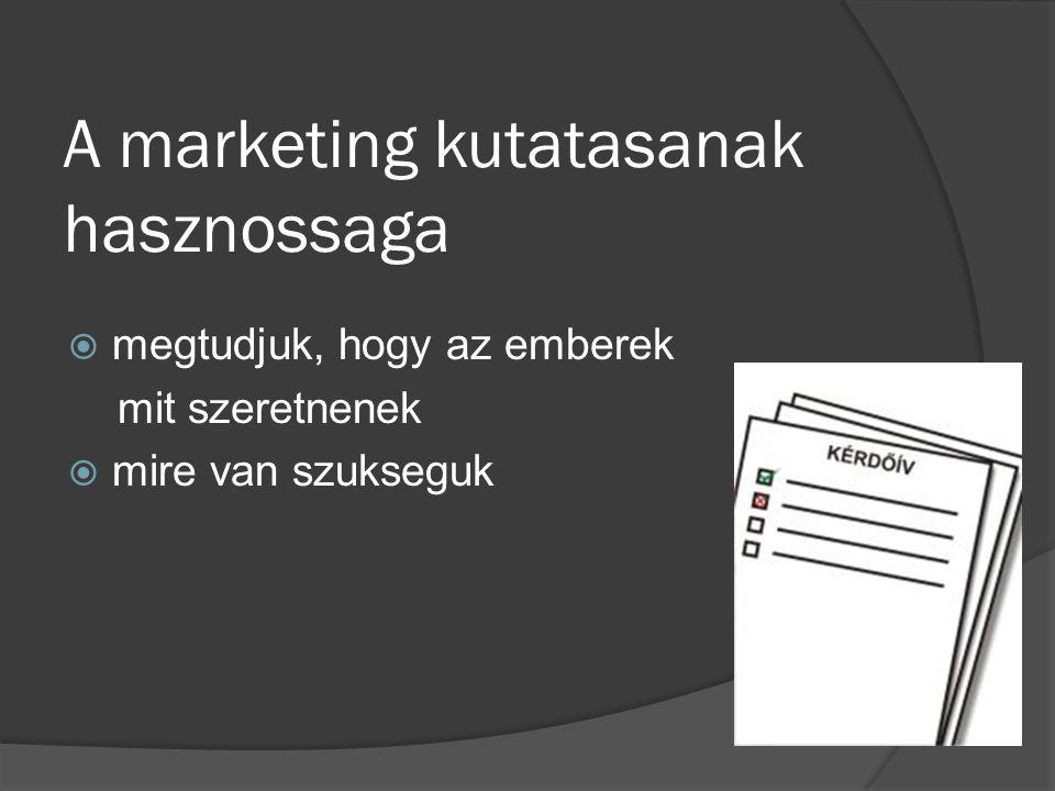 Kinek van szuksege marketing kutatasra?.