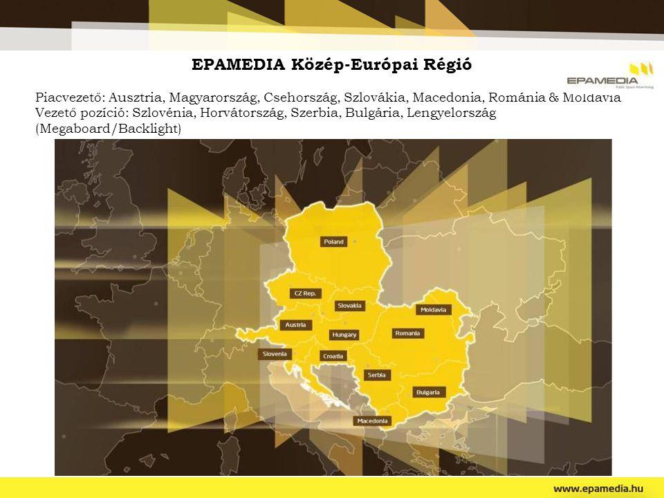 EPAMEDIA Közép-Európai Régió Piacvezető: Ausztria, Magyarország, Csehország, Szlovákia, Macedonia, Románia & Moldávia Vezető pozíció: Szlovénia, Horvá