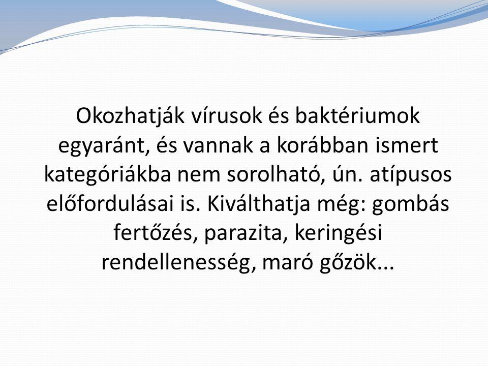 Légúti vírusok: adeno-, rhino-, parainfluenzavírusok okozzák.