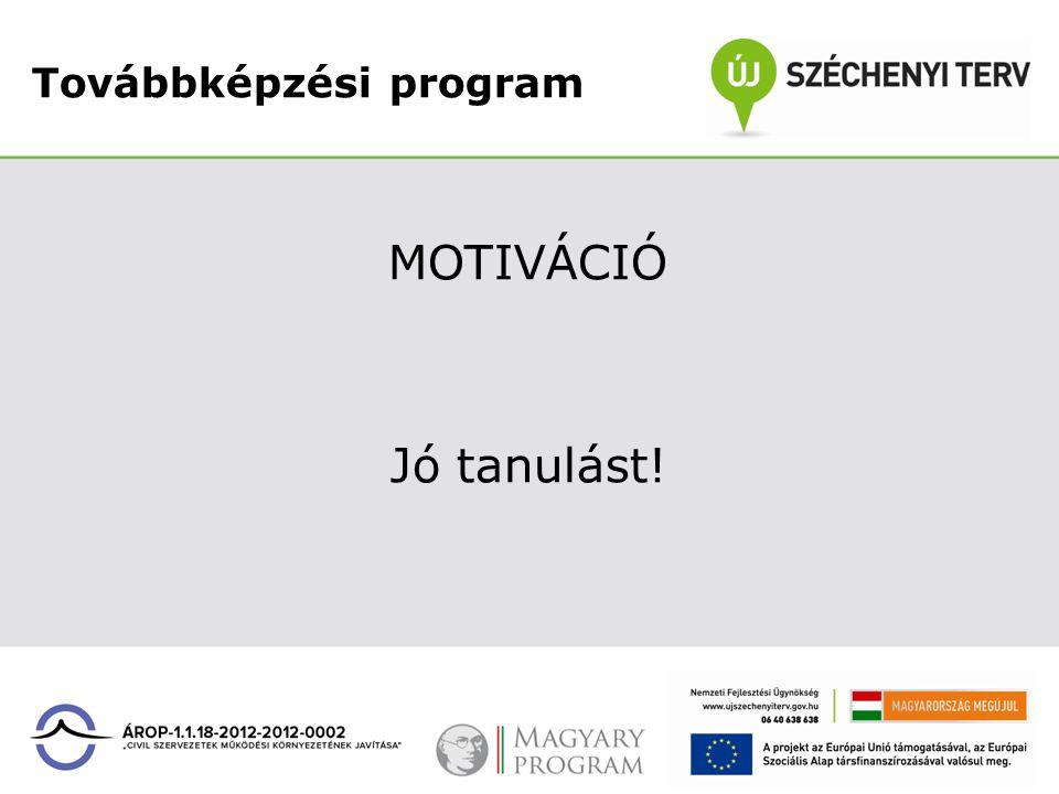Továbbképzési program MOTIVÁCIÓ Jó tanulást!