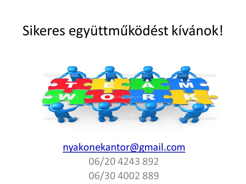 Sikeres együttműködést kívánok! nyakonekantor@gmail.com 06/20 4243 892 06/30 4002 889