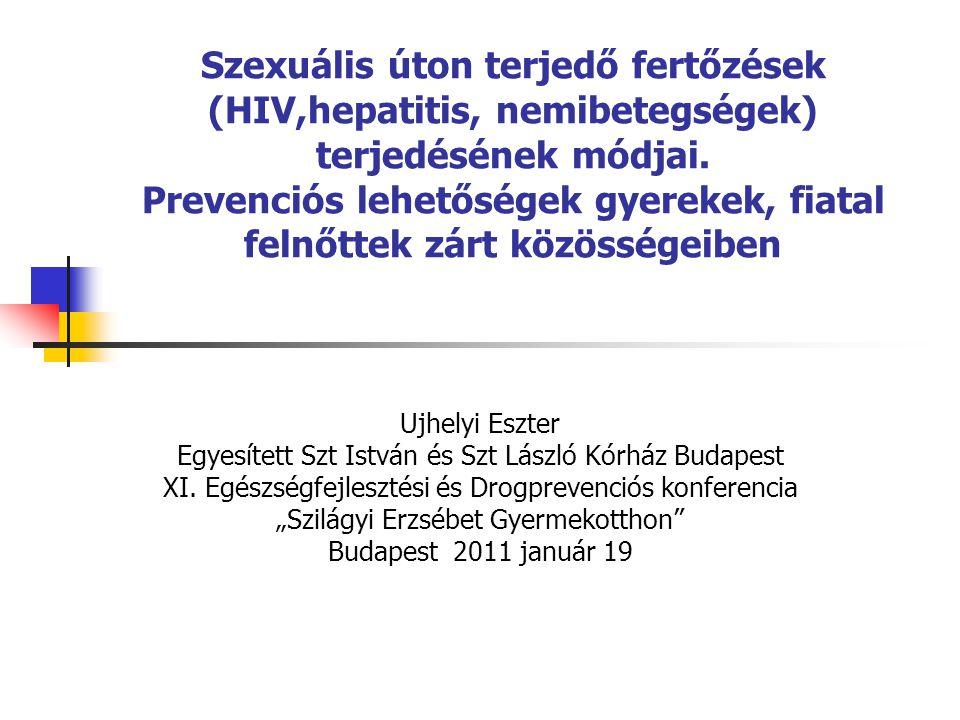 Homoszexuális átvitel jellemzői MSM a legtöbb EU-s országban a legjellemzőbb átvitel HIV prevalencia: 5 - 15%; HIV incidencia: ~3% évente; Más STD fertőzések elősegítik a HIV fertőzés átvitelét (syphilis, gonorrhoea, LGV); Szexuális viselkedésre jellemző a felelőtlenség ( sötét szoba).