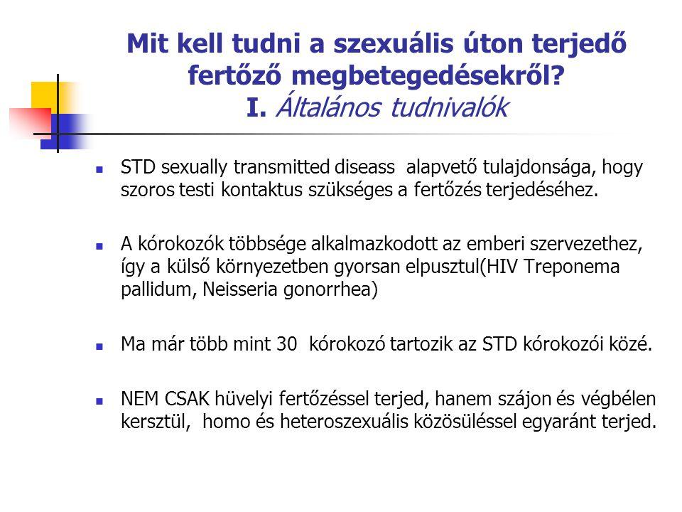 Mit kell tudni a szexuális úton terjedő fertőző megbetegedésekről.