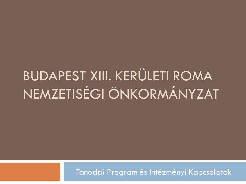 BUDAPEST XIII. KERÜLETI ROMA NEMZETISÉGI ÖNKORMÁNYZAT Tanodai Program és Intézményi Kapcsolatok