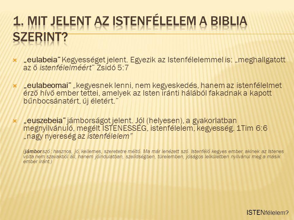 """ """"theoszebeia mélységes tisztelet Isten iránt."""