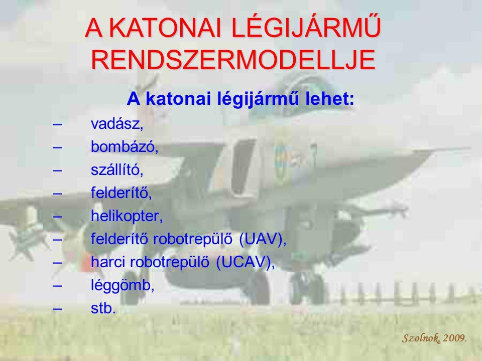 Szolnok, 2009.Katonai légijármű Vadász, bombázó, szállító, robot, stb.