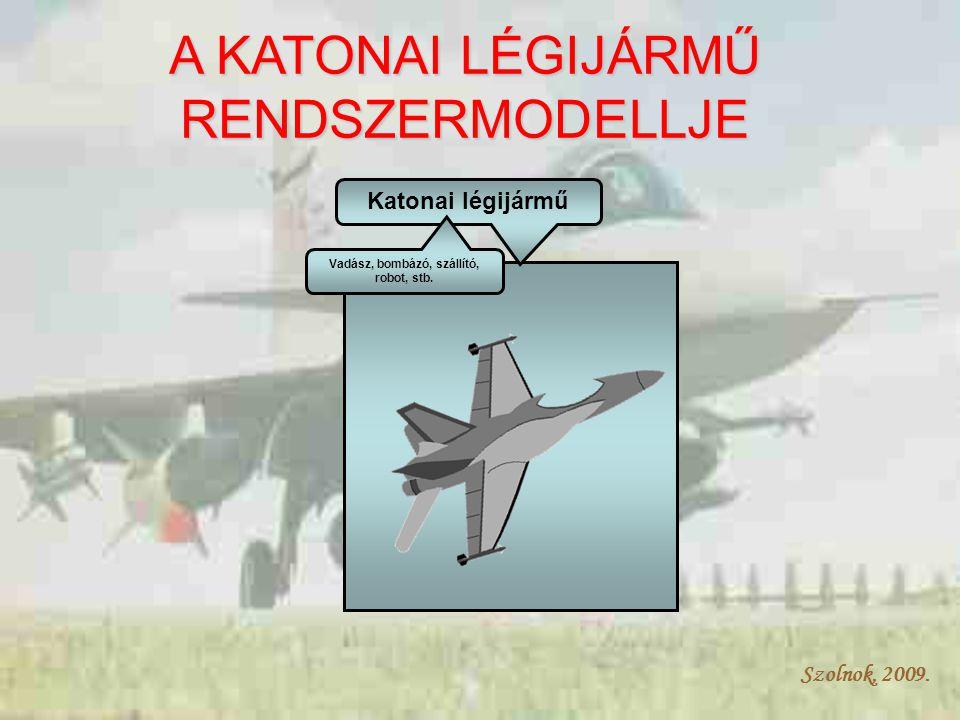 Szolnok, 2009. Katonai légijármű Vadász, bombázó, szállító, robot, stb.
