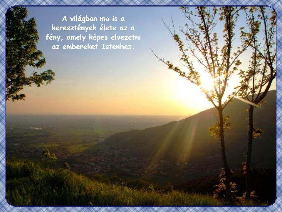 """""""Ugyanígy a ti világosságotok is világítson az embereknek, hogy jótetteiteket látva dicsőítsék mennyei Atyátokat."""