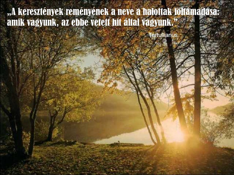 Tudatában vagyunk annak, hogy életünk minden pillanata, az örökéletnek a része.