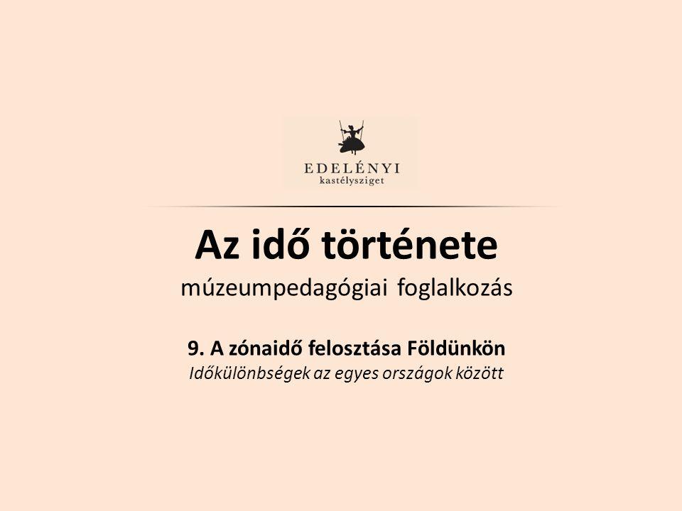Az idő története múzeumpedagógiai foglalkozás 9.