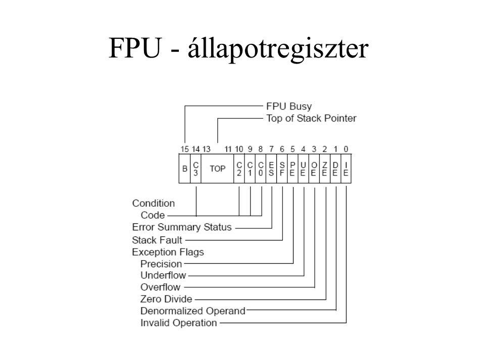 FPU - állapotregiszter